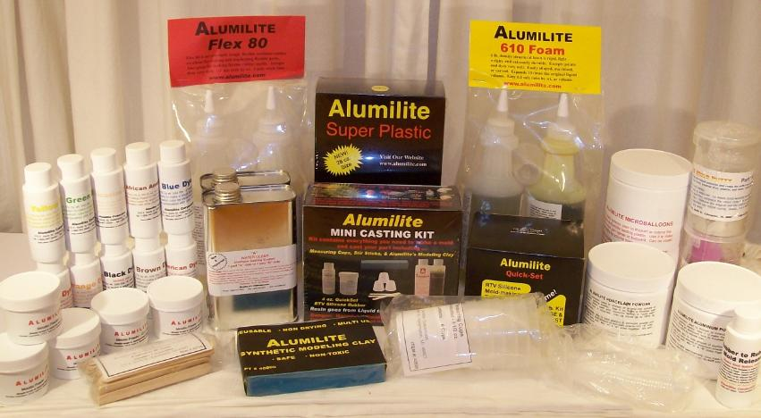 The Alumilite range as stocked by Nigel Lawton February 2007
